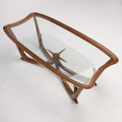 A Modern Italian mahogany coffee table with glass top circa 1950 - 1660936