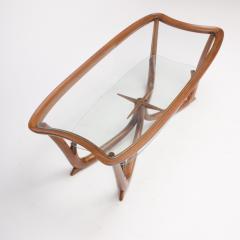 A Modern Italian mahogany coffee table with glass top circa 1950 - 1660949