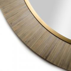A Modernist round mirror executed in meticulous straw marquetry contemporary - 2033514