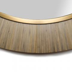 A Modernist round mirror executed in meticulous straw marquetry contemporary - 2033520