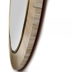 A Modernist round mirror executed in meticulous straw marquetry contemporary - 2033546