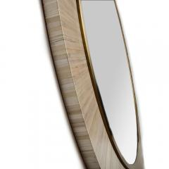 A Modernist round mirror executed in meticulous straw marquetry contemporary - 2033552