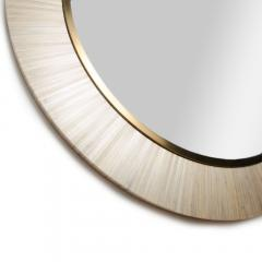 A Modernist round mirror executed in meticulous straw marquetry contemporary - 2033570