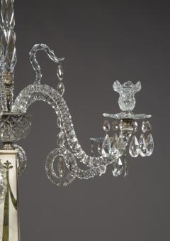 A Monumental Pair Of Inlaid Candelabra With Four Light Crystal Upper Sections - 1701510