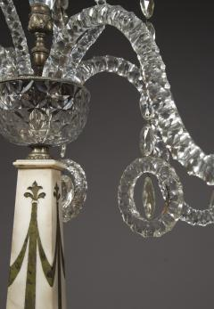 A Monumental Pair Of Inlaid Candelabra With Four Light Crystal Upper Sections - 1701511