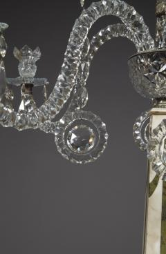 A Monumental Pair Of Inlaid Candelabra With Four Light Crystal Upper Sections - 1701513