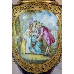 A Monumental and Rare Pair of Rare Palace S vres Style Porcelain Vases - 1576498