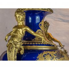 A Monumental and Rare Pair of Rare Palace S vres Style Porcelain Vases - 1576503