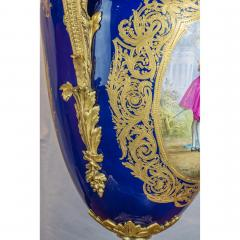 A Monumental and Rare Pair of Rare Palace S vres Style Porcelain Vases - 1576506