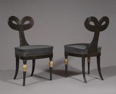 A Most Remarkable Ebonized And Partially Gilded Side Chair Of Unique Form - 905563