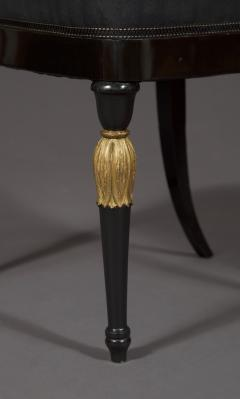 A Most Remarkable Ebonized And Partially Gilded Side Chair Of Unique Form - 905567