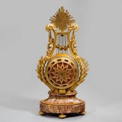 A Napoleon III Lyre clock with ormolu hand - 828516