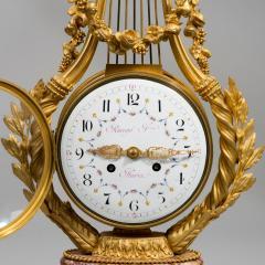 A Napoleon III Lyre clock with ormolu hand - 828517