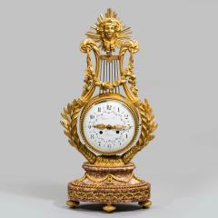 A Napoleon III Lyre clock with ormolu hand - 828518