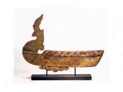 A Near Pair of Antique Hong Bird Roof Carvings Thailand - 88694