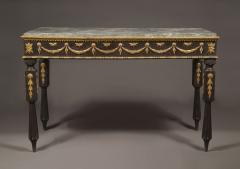 A Neoclassical Period Ebonized And Giltwood Side Table - 1307259