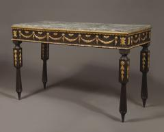 A Neoclassical Period Ebonized And Giltwood Side Table - 1307268