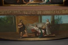 A Neoclassical Polychrome Painted Sofa Depicting Two Scenes From Homers Odyssey - 837921