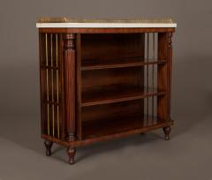 A Pair Bow Fronted Figured Mahogany Dwarf Open Display Shelves or Bookcases - 452321