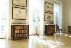 A Pair Bow Fronted Figured Mahogany Dwarf Open Display Shelves or Bookcases - 452322