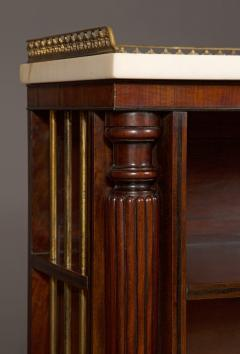 A Pair Bow Fronted Figured Mahogany Dwarf Open Display Shelves or Bookcases - 452326