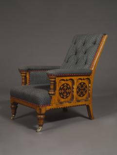 A Pair Of Ashwood And Inlaid Arts And Crafts Period Armchairs - 1447659