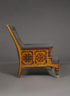 A Pair Of Ashwood And Inlaid Arts And Crafts Period Armchairs - 1447662