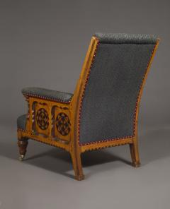 A Pair Of Ashwood And Inlaid Arts And Crafts Period Armchairs - 1447663