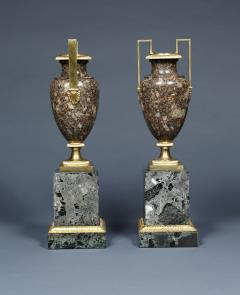 A Pair Of Gilt Bronze Mounted Specimen Porphyritic Granite Vase - 1427120