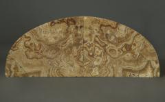 A Pair Of Mahogany Console Tables Bearing Fine Alabastro Fiorito Veneered Tops - 1352041