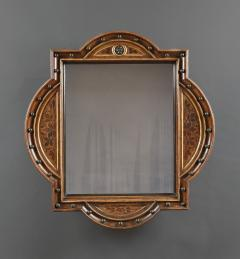 A Pair Of Neo Gothic Oak Walnut And Painted Mirrors Of Interesting Form - 1373315