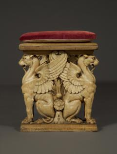 A Pair Of Neoclassical Oak Benches With Well Carved Monopodiae Supports - 1171169