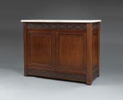 A Pair Of Neoclassical Two Door Cabinets With Marble Tops - 1307314
