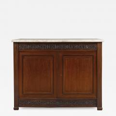 A Pair Of Neoclassical Two Door Cabinets With Marble Tops - 1308764