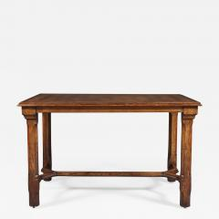 A Pair Of Oak Parquetry Veneered Center Tables By Howard Sons - 851766