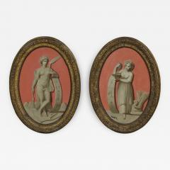 A Pair Of Oval Oil Paintings Depicting Two Of The Seasons - 1165409