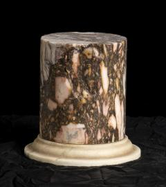 A Pair Of Sculpture Specimen Breccia Marble Pedestals Italian - 1902997
