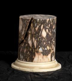 A Pair Of Sculpture Specimen Breccia Marble Pedestals Italian - 1902998