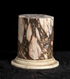 A Pair Of Sculpture Specimen Breccia Marble Pedestals Italian - 1902999