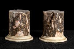 A Pair Of Sculpture Specimen Breccia Marble Pedestals Italian - 1903000