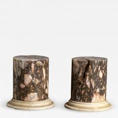 A Pair Of Sculpture Specimen Breccia Marble Pedestals Italian - 1905077