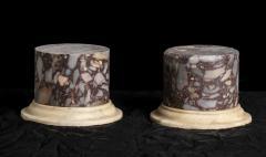 A Pair Of Sculpture Specimen Breccia Marble Pedestals Italian - 1903016
