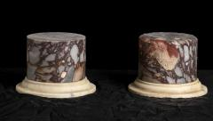 A Pair Of Sculpture Specimen Breccia Marble Pedestals Italian - 1903017