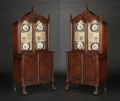 A Pair Regency Mahogany Display Cabinets - 1177752
