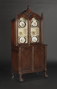 A Pair Regency Mahogany Display Cabinets - 1177753