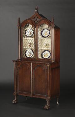 A Pair Regency Mahogany Display Cabinets - 1177754