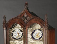 A Pair Regency Mahogany Display Cabinets - 1177755