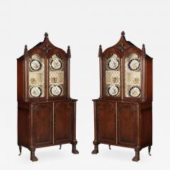 A Pair Regency Mahogany Display Cabinets - 1179103
