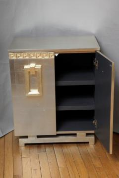 A Pair of Art Deco Two Door Silver Leafed Cabinets - 313124