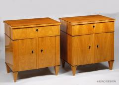 A Pair of Biedermeier Style Two Door Night Stands by Iliad Design - 453962
